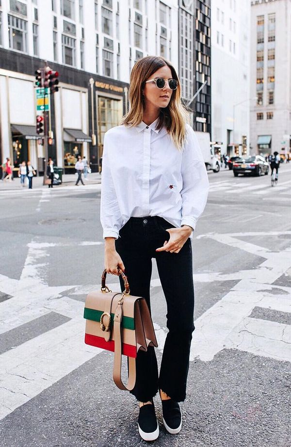 On Michelle Madsen: Garrett Leight Kinny Sun ($375); M.i.h Jeans Carter Shirt Blouson Shirt ($235) and Lou Jean High Rise Cropped Bell($260); Gucci Dionysus Leather Top Handle Bag ($2,80);...