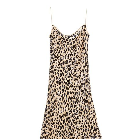 Jessa Bias Slip Dress Natural Leopard