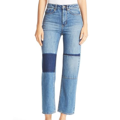 Anais Crop Wide Leg Jeans (Patch)