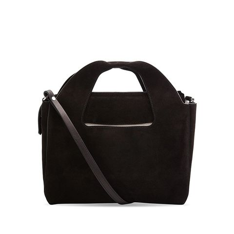 Two for One 10 Black Suede Tote Bag