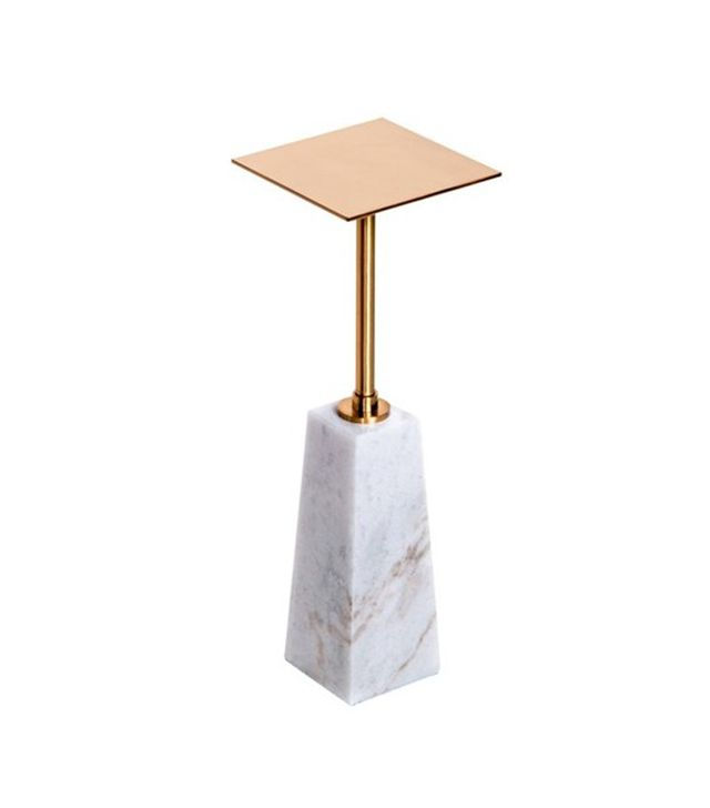 Interlude Arnold Marble Drinks Table