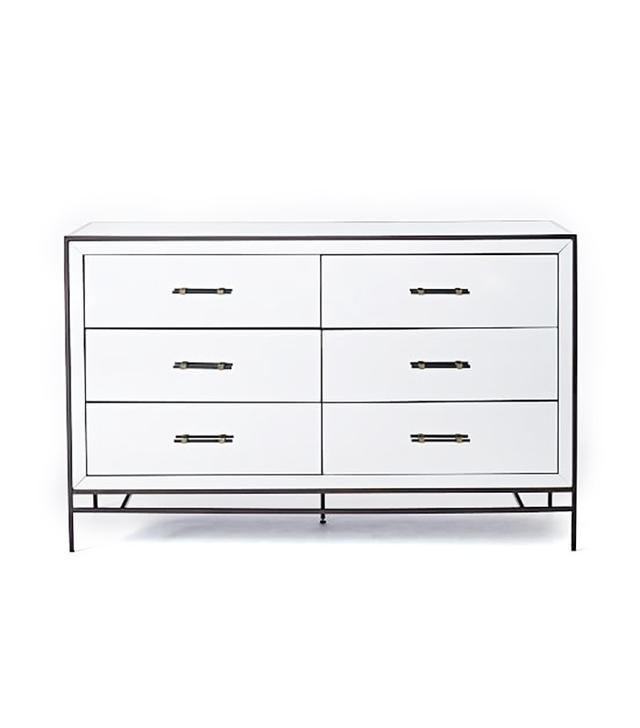 Mirrored Storage 3 Drawer Dresser