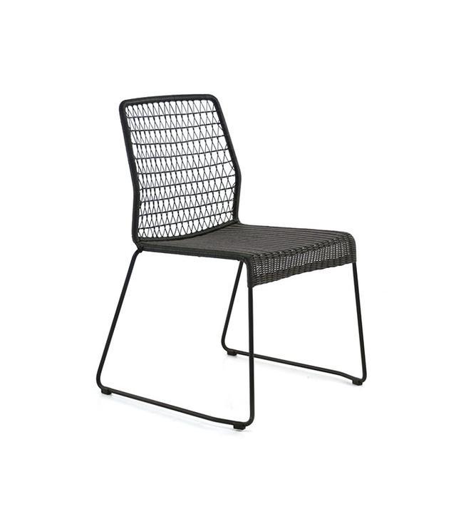 Teak Warehouse Edge Wicker Dining Side Chair
