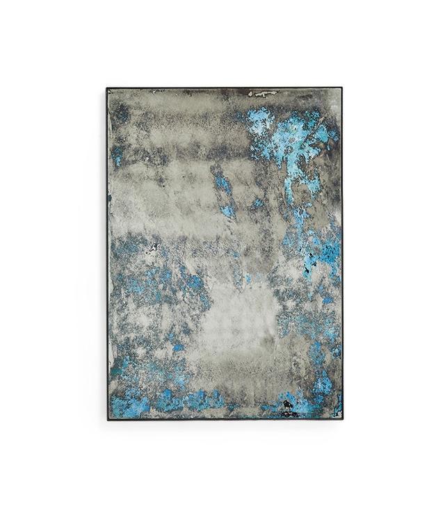 Echo Ocean Blue Distressed Mirror