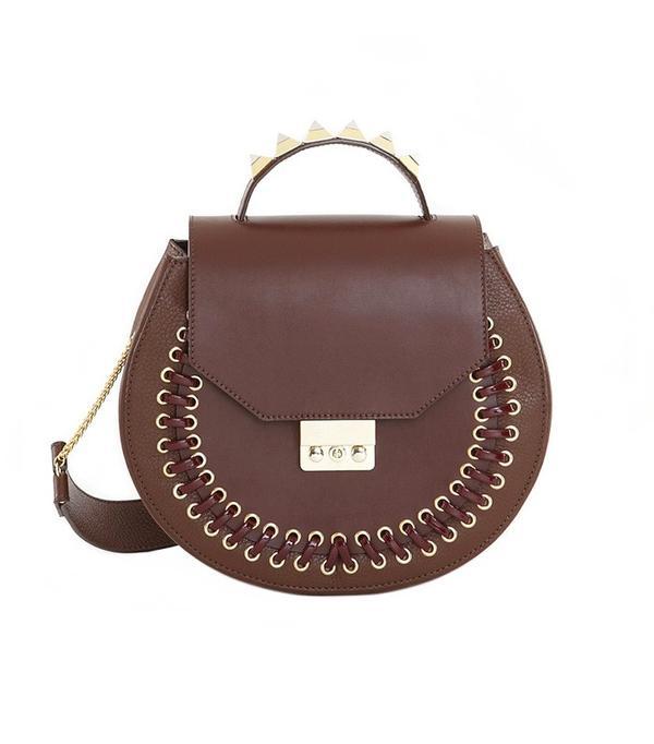 Salar Milano Eva Pocket Dark Brown Bag