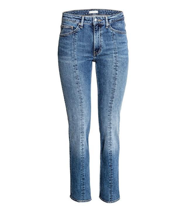 H&M Straight Regular Ankle Jeans