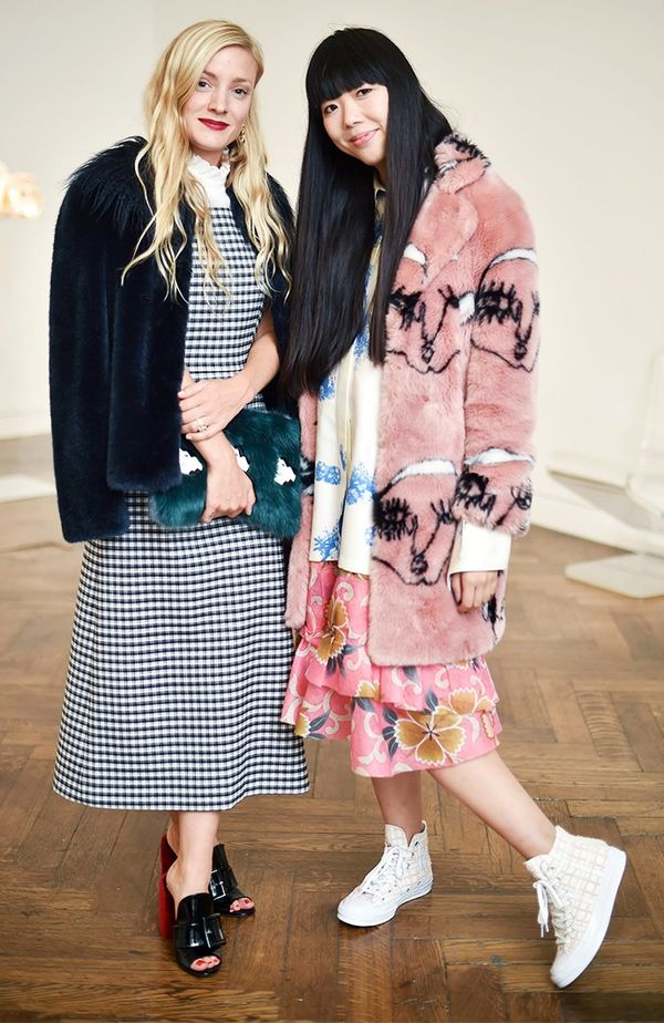 WHO: Kate Foley and Susie Bubble WHAT: Shrimps dinner WEAR: Shrimps coats.