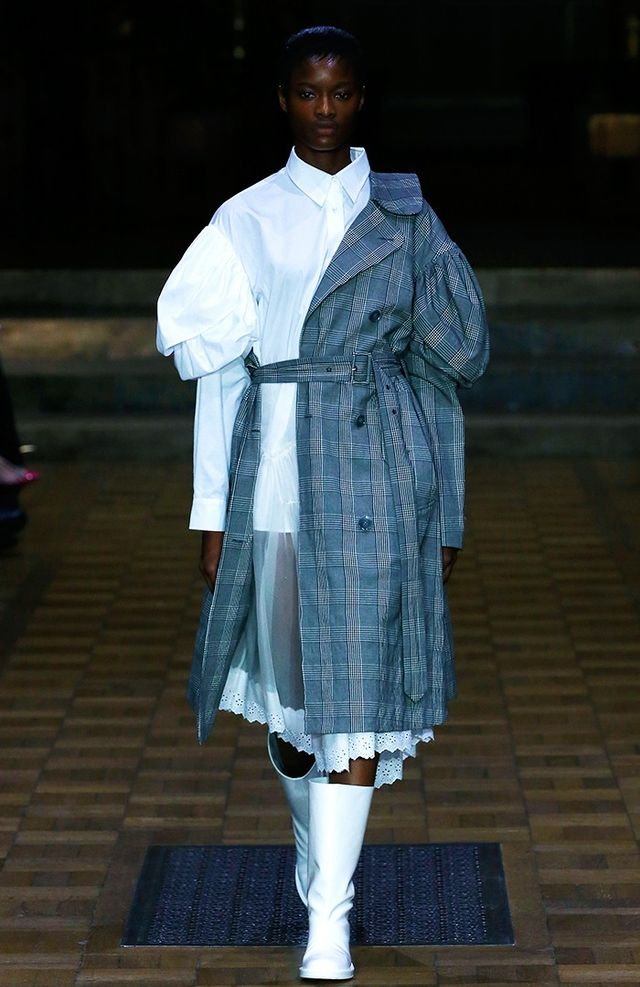 Other takeouts from this romantic runway, set in the hallowed walkways of Southwark Cathedral, included a very posh take on Wellington boots, twisted, flower-dotted dresses that fluttered around...