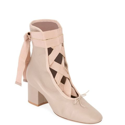 Ballet Napa Leather Lace-Up Bootie