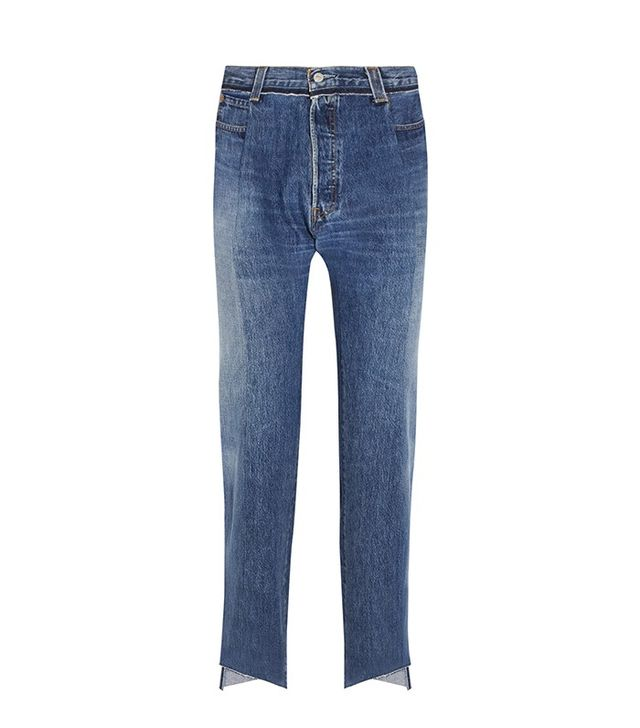 Vetements Reworked High-Rise Slim-Leg Jeans