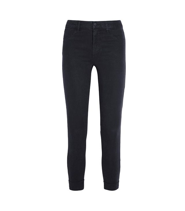 J Brand Anja Cropped Stretch-Sateen Skinny Pants