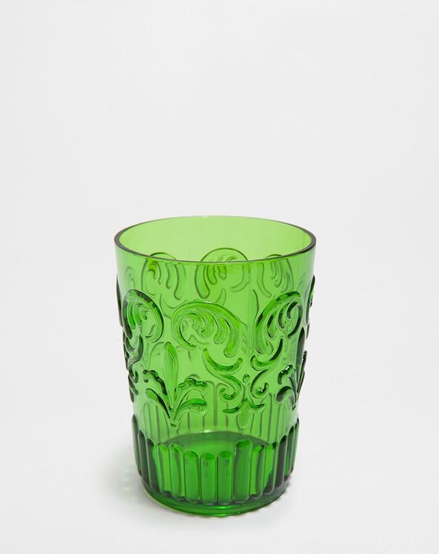 Zara Home Green Raised Design Tumbler