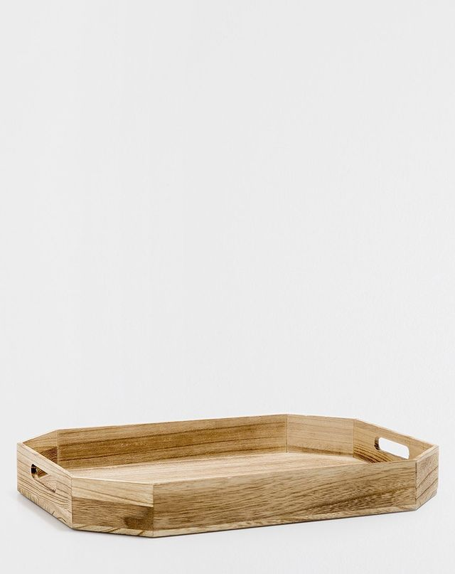 Zara Home Large Natural-Colored Rectangle Tray
