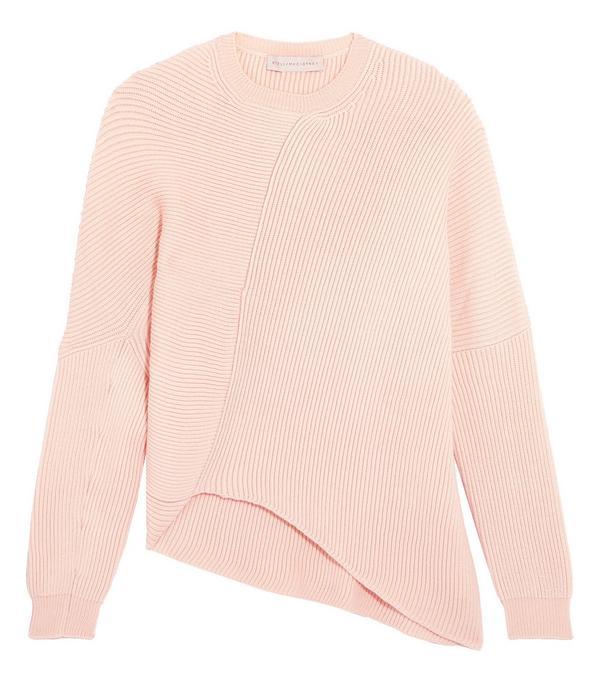 Stella McCartney Asymmetric Ribbed Wool Sweater