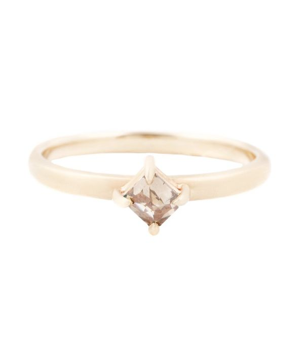 Rebecca Overmann Square Diamond Solitaire