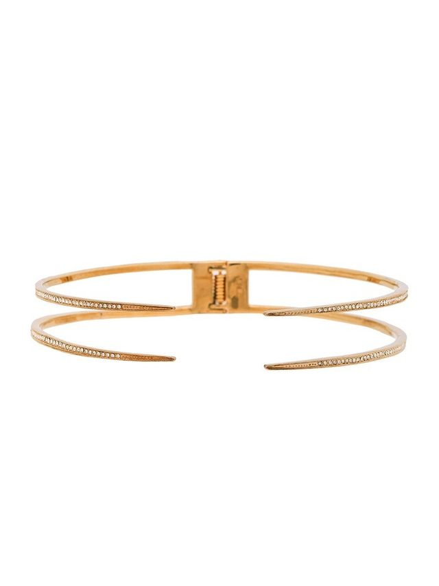 Luv Aj Double Pave Spike Collar Necklace