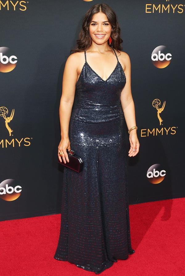 WHO: America Ferrera WHAT: Presenter WEAR:Jenny Packham dress.
