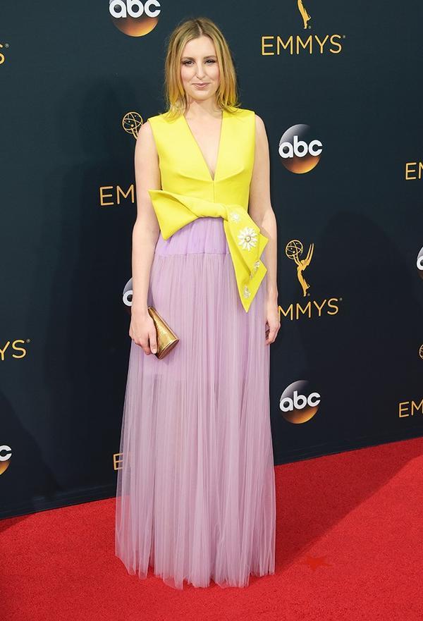 WHO:Laura Carmichael WHO: Actress,Downton Abbey WEAR:Delpozo gown.