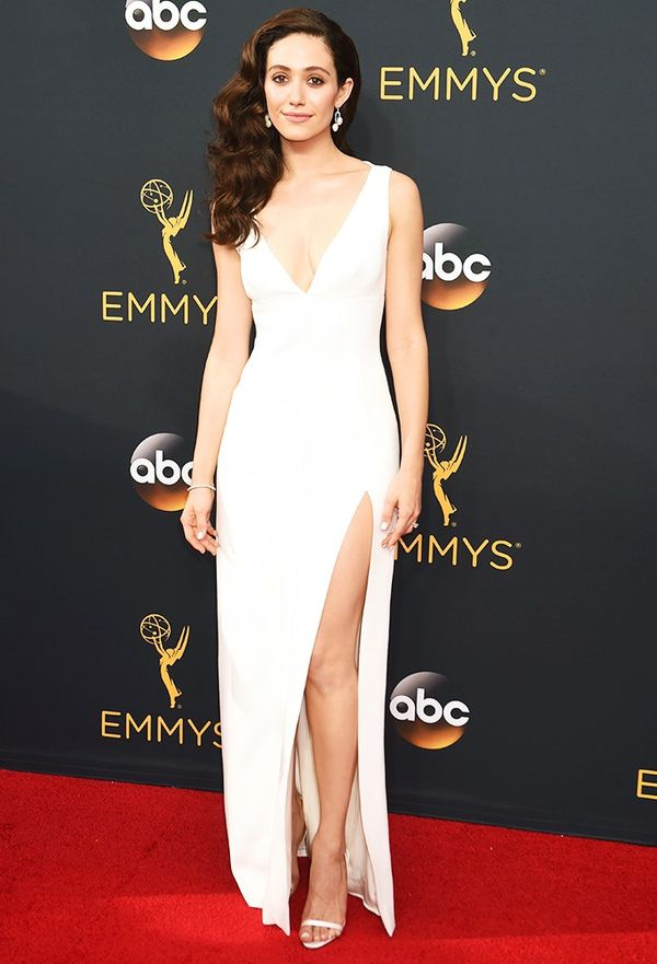 WHO: Emmy Rossum WHAT: Actress WEAR: Wes Gordon dress.