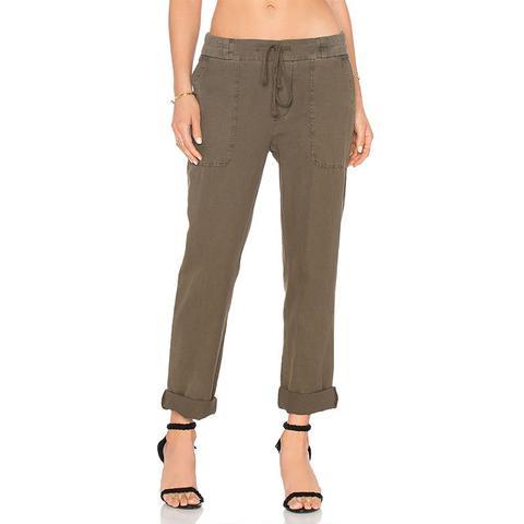 Slim Cotton Linen Trouser