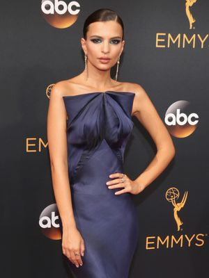 You Have to See Emily Ratajkowski's Emmys Dress in Slow Motion