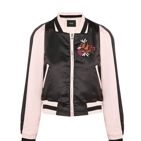 Basla Appliqued Duchesse-Satin Bomber Jacket