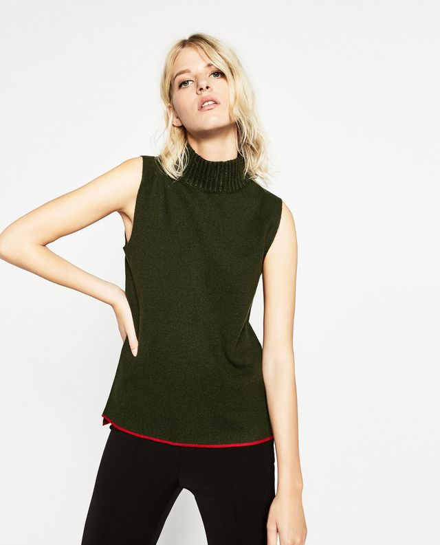 Zara Urban Collection Sweater With a High Collar
