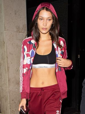 Bella Hadid Wore a Bold Sports-Bra Look to the Airport