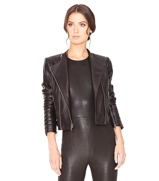Alice + Olivia Gamma Always Right Leather Jacket