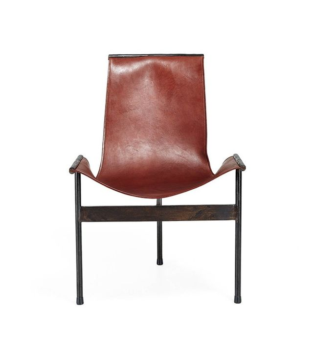 Giron Leather Scoop Chair