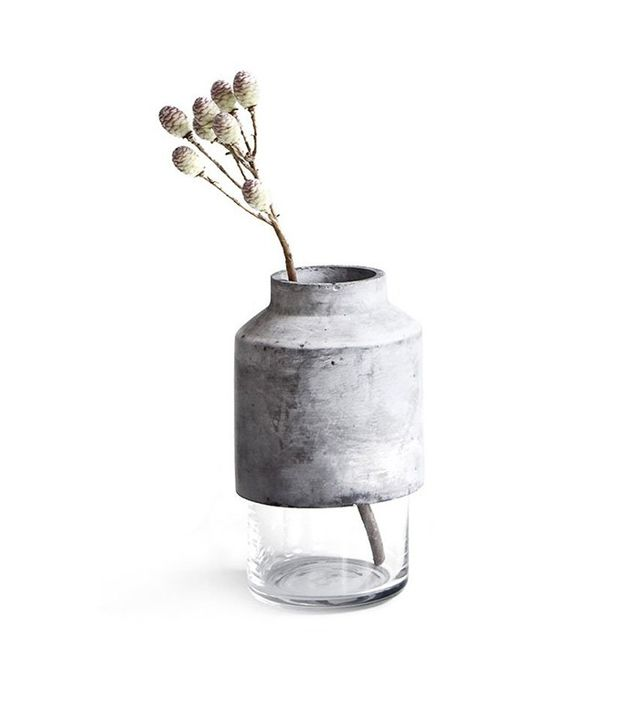 Menu Concrete & Glass Vase