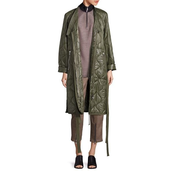 3.1 Phillip Lim Long Kimono Quilted Utility Jacket