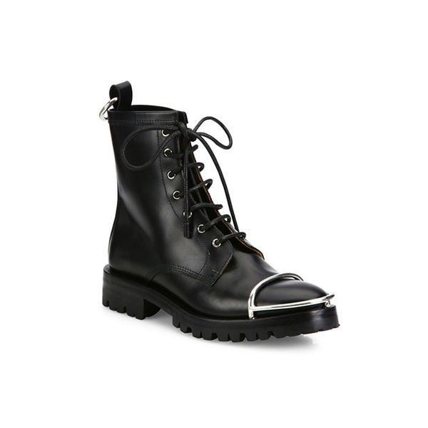 Alexander Wang Lyndon Metal Cap Toe Leather Booties