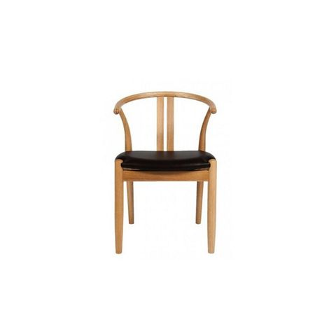 Paper Cord Dining Chair With Leather Seat