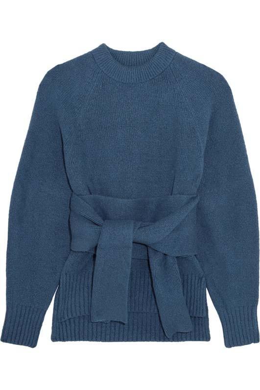 3.1 Phillip Lim Tie-Front Cotton-Blend Sweater