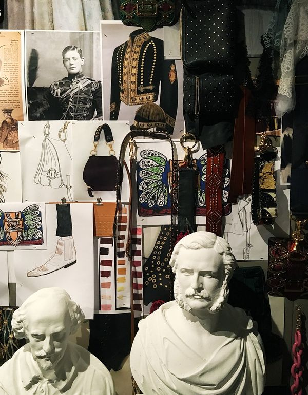 """The Burberry show is always one of my favourites. Here's a glimpse of a mood board displayed on the walls of their venue called the Makers House. It will be open to visitors from September..."