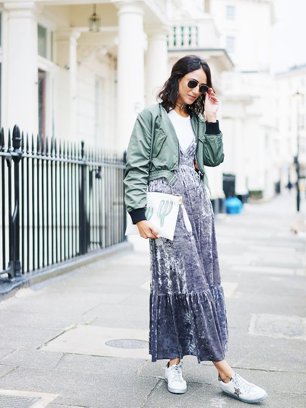 """My wardrobe lately is full of crushed velvet pieces. I can't get enough of it. Made a great bargain of this Zara dress and jacket—two pieces I can easily dress up or down that will..."