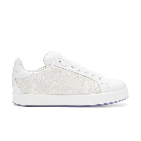 White Leather & Lace Sneaker