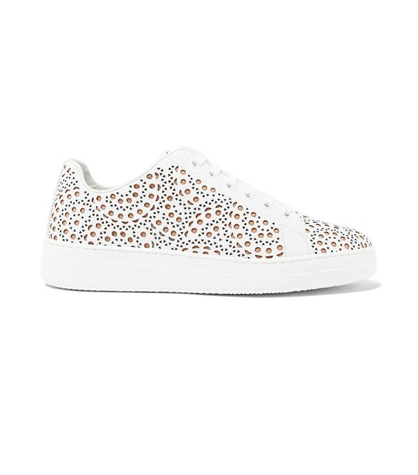 Alaïa Laser-Cut Leather Sneaker