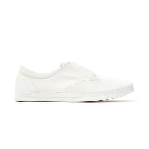 Slip-On Sneaker with White Sole
