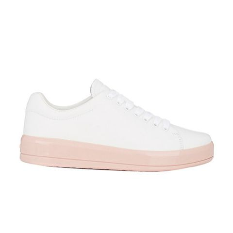 Contrast-Sole Low-Top Sneaker
