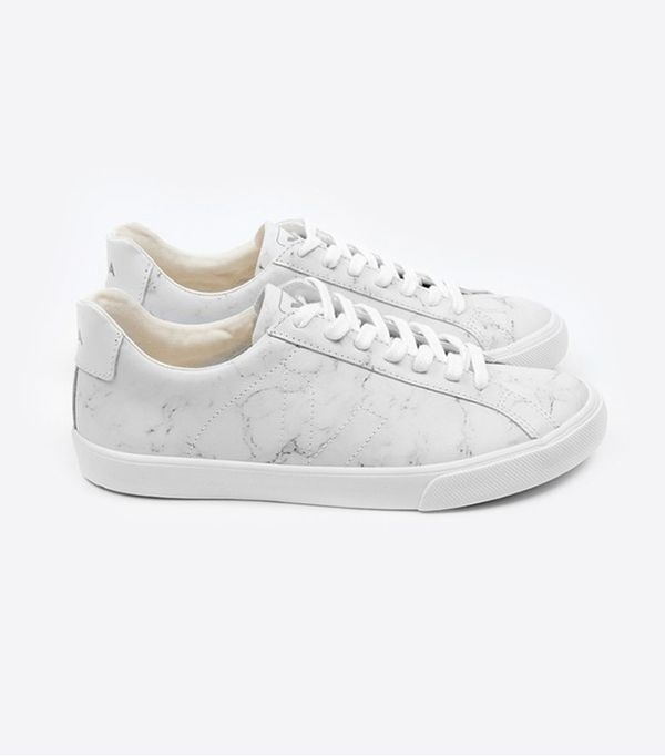 Veja x Diapers and Milk Esplar Leather Marble Sneaker