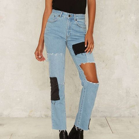 The Fray Patchwork Jeans