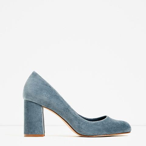 Velvet High Heel Shoes