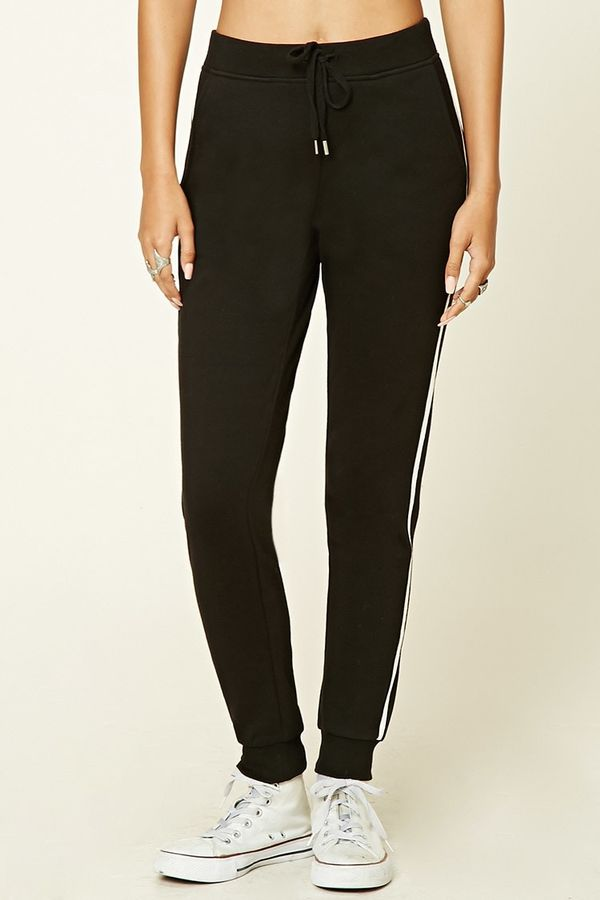 Forever 21 Contrast Stripe Sweatpants