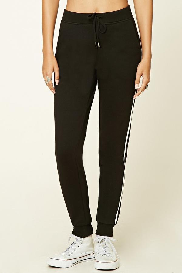 Forever 21 Contrast Stripe Sweatpants