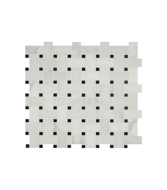 Arabescato Carrara Honed Basketweave Tiles