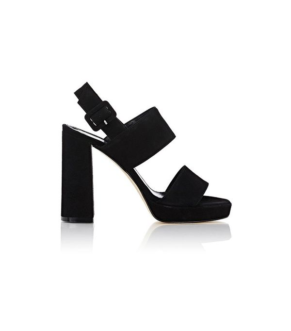 Barneys New York Double-Band Platform Sandals