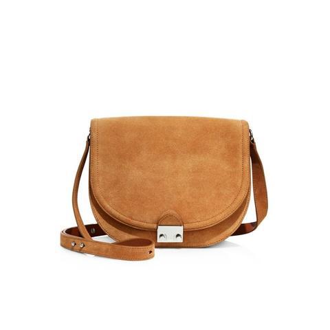 Large Suede Saddle Bag