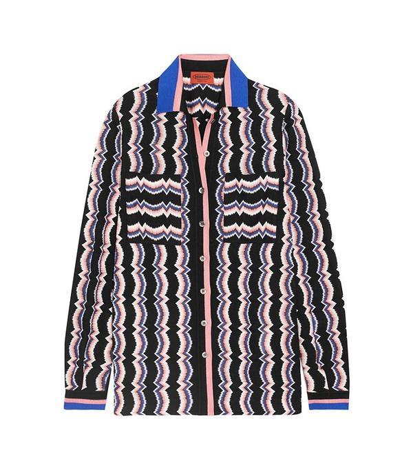 Missoni Wool-Blend Crochet-Knit Shirt